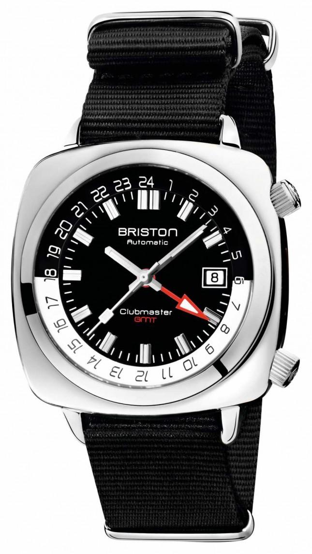 Briston Clubmaster GMT Limited Edition   Auto   Black Nato Strap 19842.PS.G.1.NB