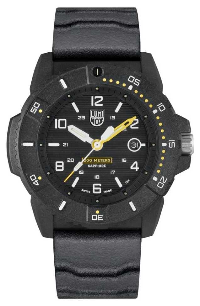 Luminox Mens Navy Seal 3600 Series   Black Rubber Strap   Black Dial XS.3601
