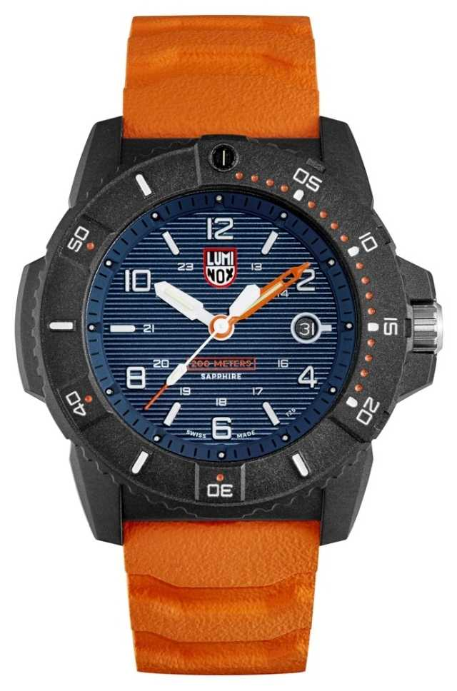 Luminox Mens Navy Seal 3600 Series | Orange Rubber Strap | Blue Dial XS.3603