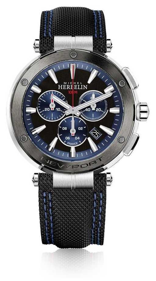 Michel Herbelin | Mens | Newport | Blue And Black Chronograph | 37688/AG65