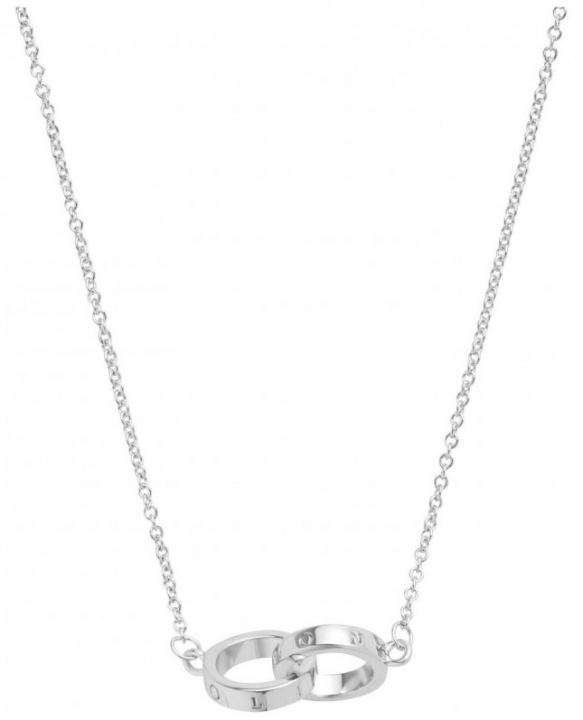 Olivia Burton | The Classics | Silver | Interlink Circle | Necklace | OBJ16ENN54