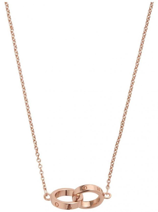 Olivia Burton | The Classics | Rose Gold | Interlink Circle | Necklace | OBJ16ENN55