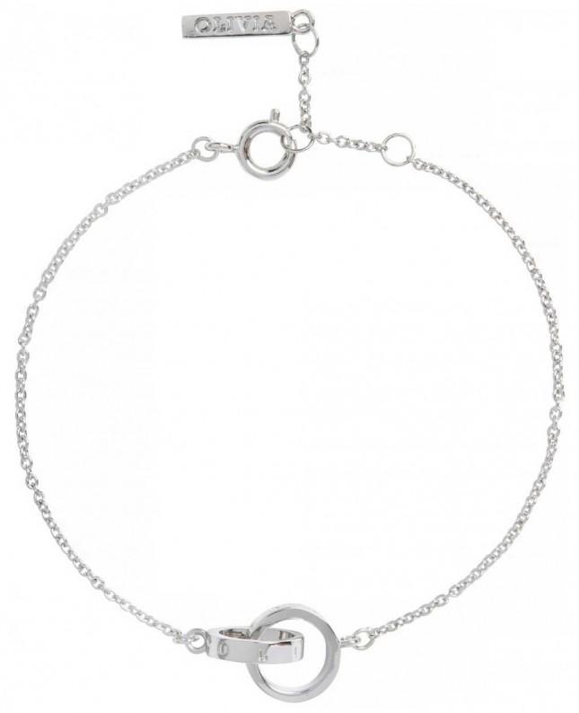 Olivia Burton | The Classics | Silver | Interlink Circle | Bracelet | OBJENB14B