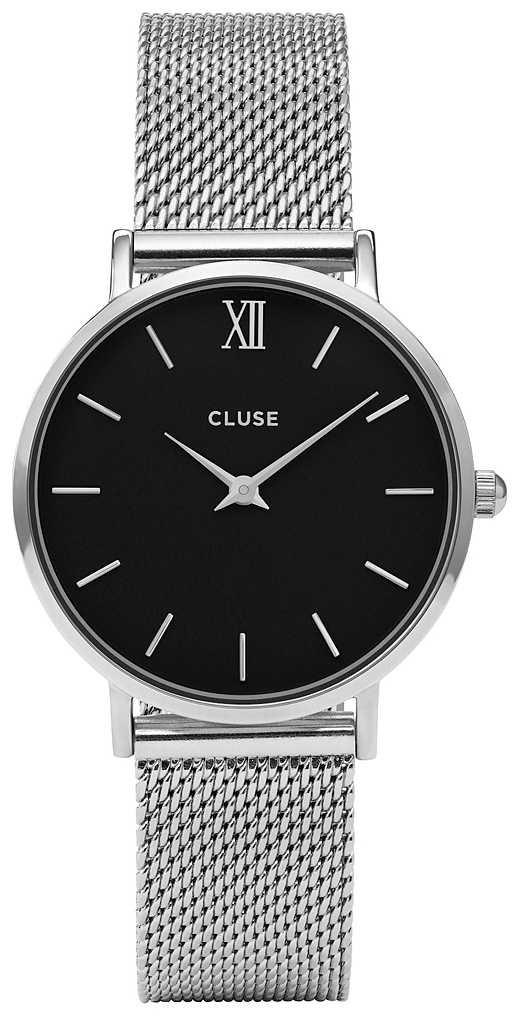 CLUSE Minuit Mesh Silver Black/Silver 33mm CW0101203005