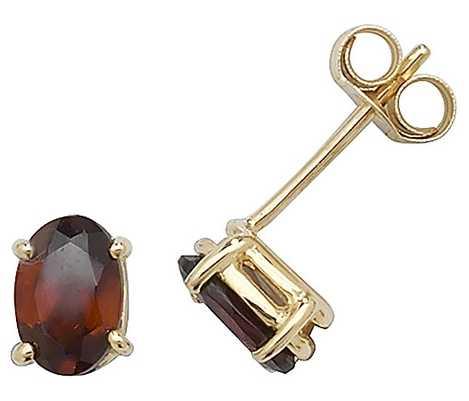 Treasure House 9k Yellow Gold Garnet Stud Earrings ES382GA