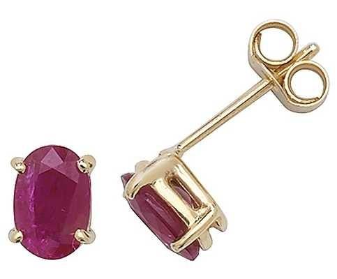 Treasure House 9k Yellow Gold Ruby Stud Earrings ES382RB