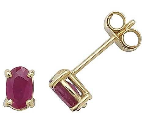 Treasure House 9k Yellow Gold Ruby Stud Earrings ES381RB