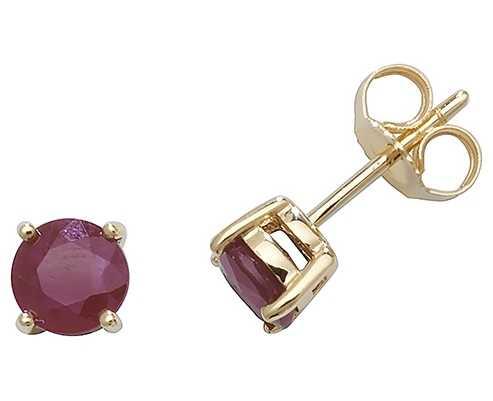 Treasure House 9k Yellow Gold Ruby Stud Earrings ED241R