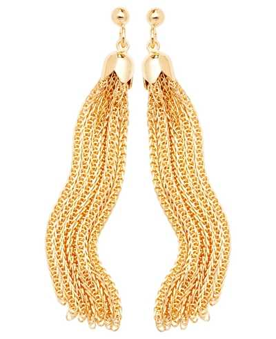 Treasure House 9k Yellow Gold Drop Chain Earrings ES567