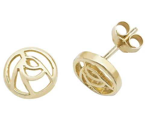 Treasure House 9k Yellow Gold Stud Earrings ES542