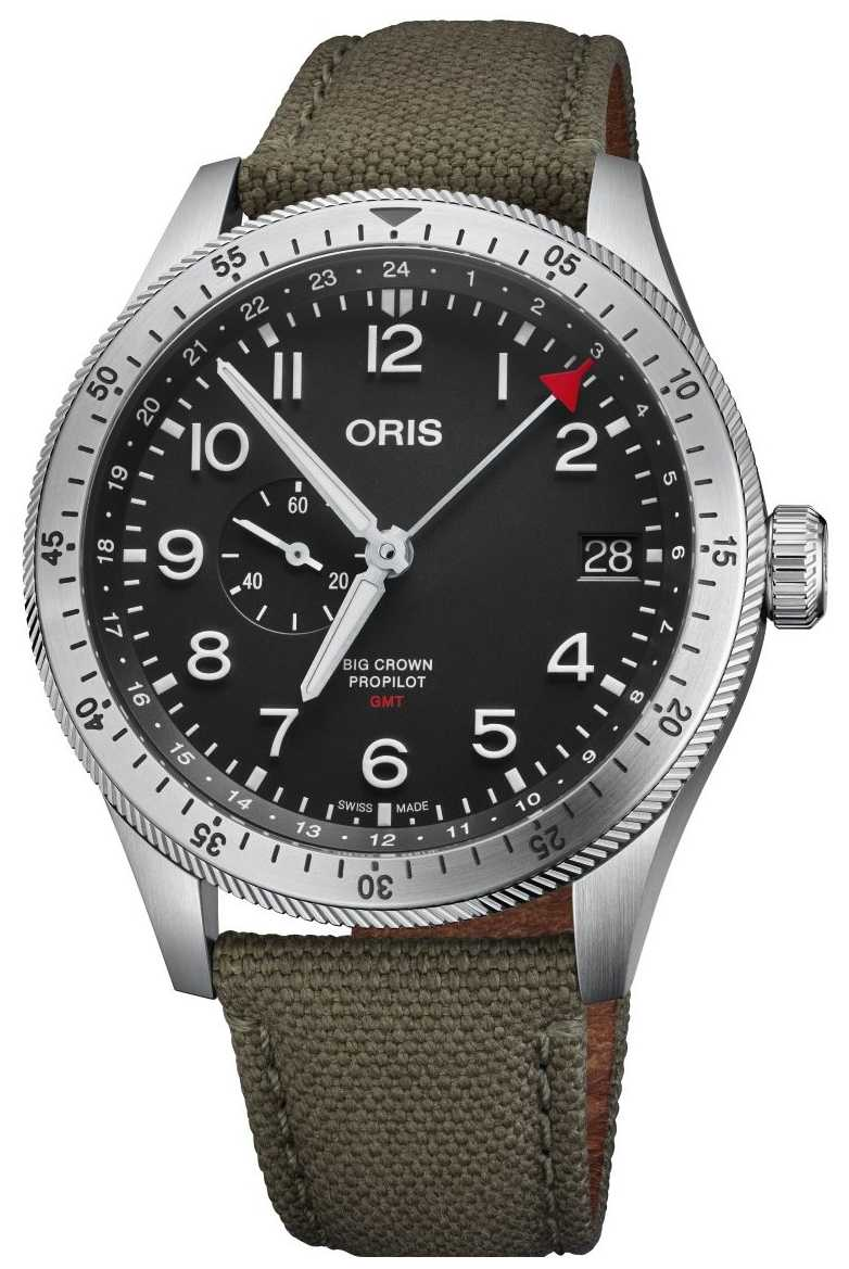 ORIS | Big Crown ProPilot Timer GMT | Green Textile Strap | 01 748 7756 4064-07 3 22 02LC