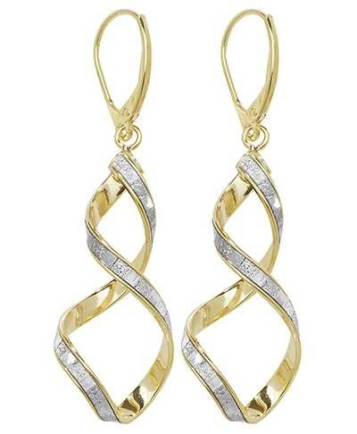 Treasure House 9k Yellow Gold Spiral Drop Earrings ER1030