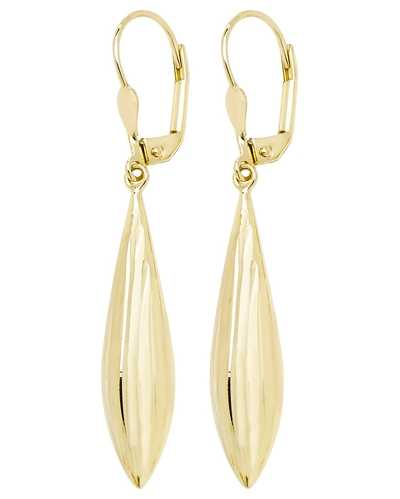 James Moore TH 9k Yellow Gold Lever Back Drop Earrings ES573
