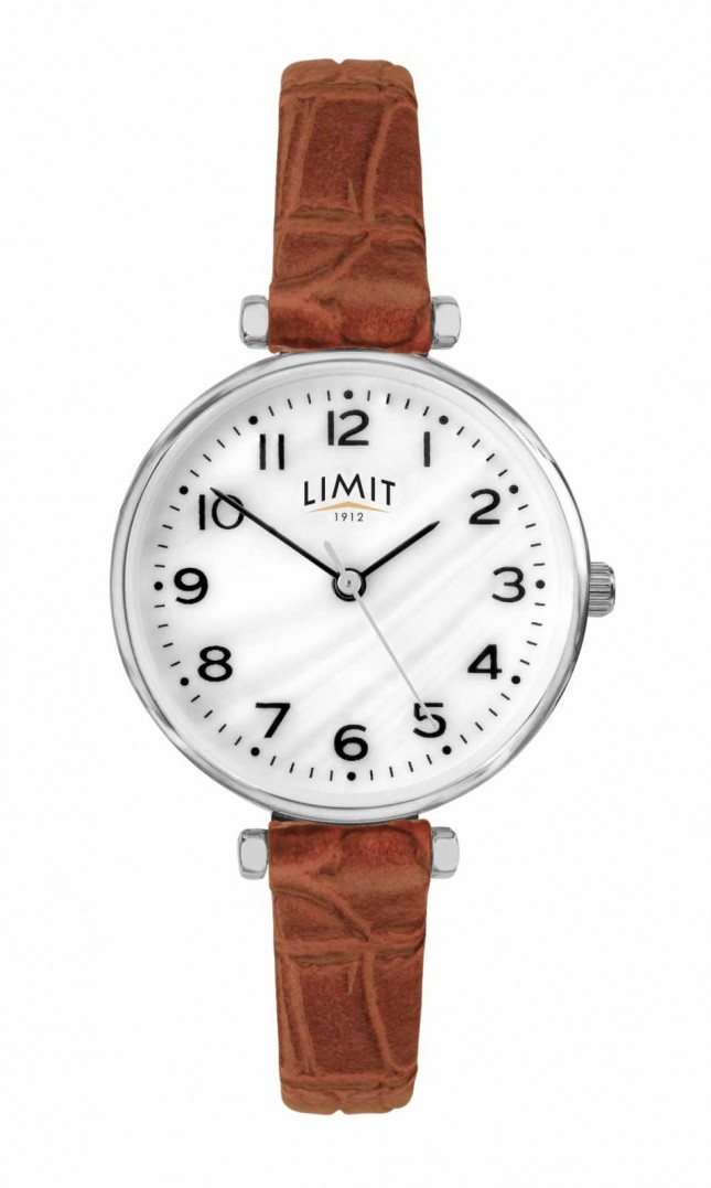 Limit   Womens Brown Leather Strap   Mother Of Pearl Dial   60060.01