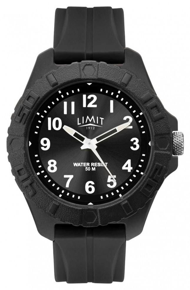 Limit   Mens Active Adult Analogue   Black Rubber Strap   5754.01