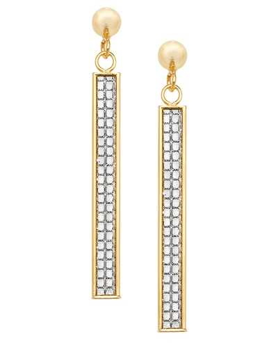 Treasure House 9k Yellow Gold Drop Bar Earrings ES565