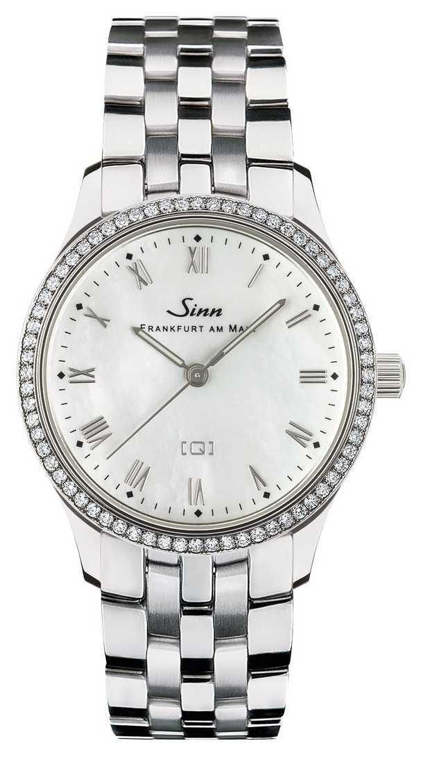 Sinn 434 TW68 WG Mother-of-pearl W Stainless Steel Bracelet 434.031