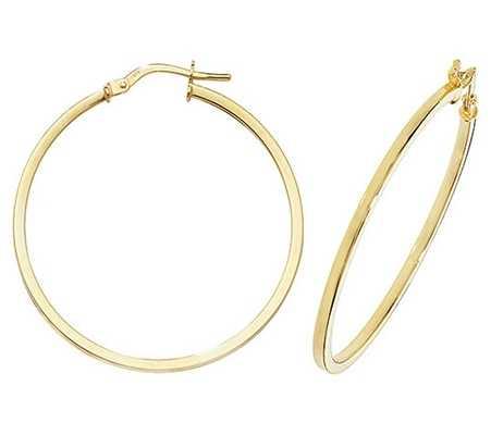 Treasure House 9k Yellow Gold Hoop Earrings 30 mm ER1007-30