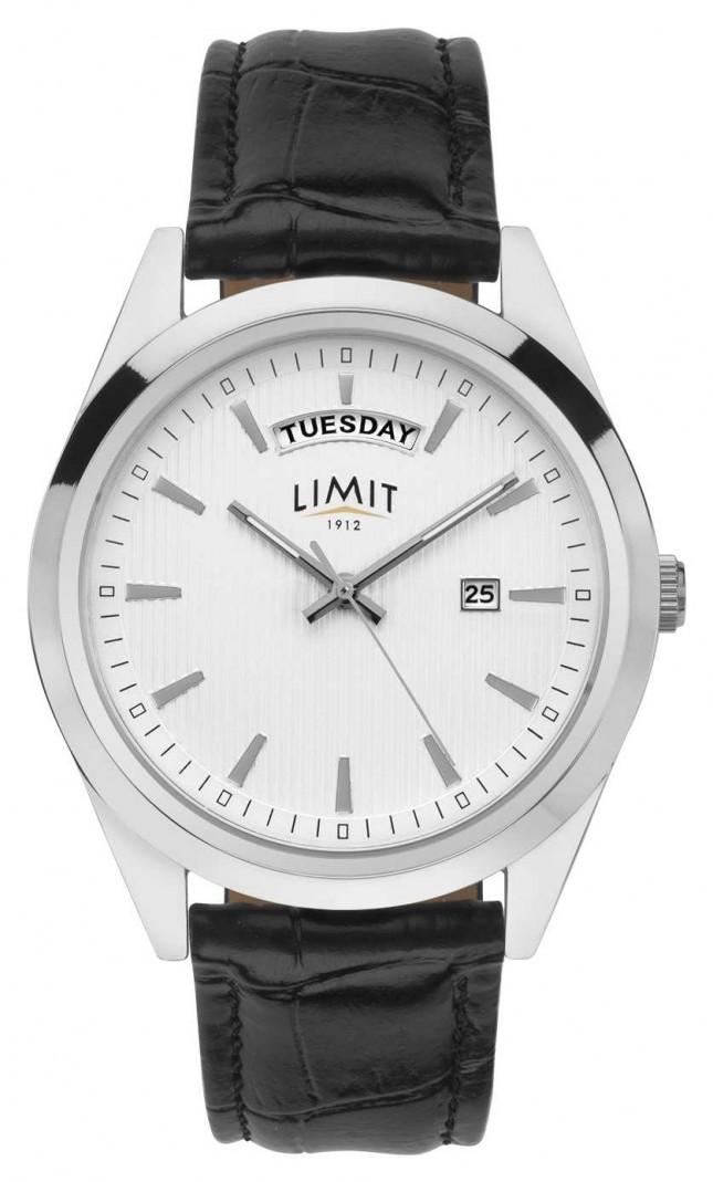 Limit | Men's Black Leather | Silver Dial | Silver Case | 5749.01