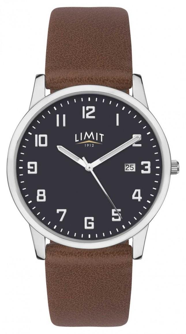 Limit   Men's Brown Leather Strap   Blue Dial   5743.01