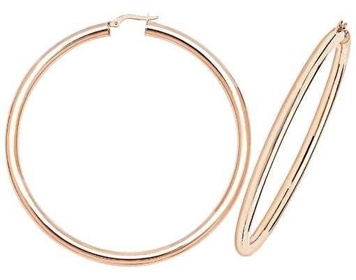 Treasure House 9k Rose Gold Hoop Earrings 60 mm ER1004R-60