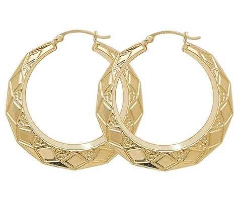Treasure House 9k Yellow Gold Creole Earrings ER080