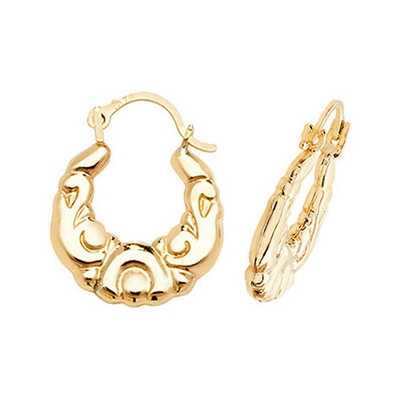 James Moore TH 9k Yellow Gold Creole Earrings ER066