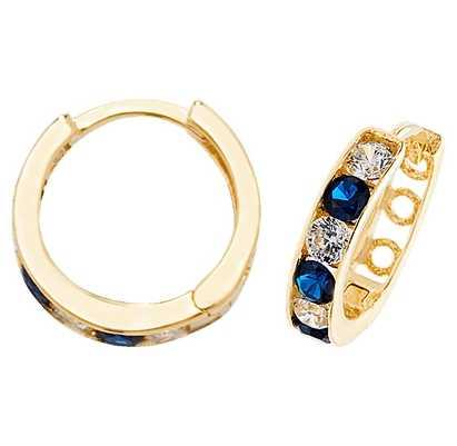 Treasure House 9k Yellow Gold Cubic Zirconia Hinged Earrings ER033S