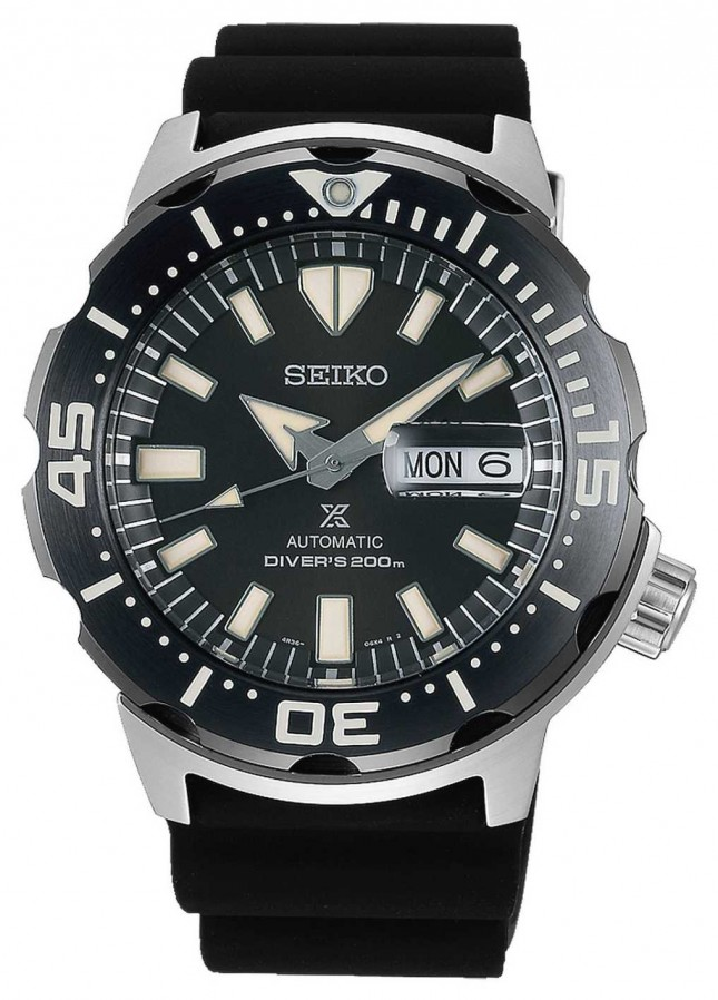 Seiko Prospex Monster Automatic Divers | Black Rubber Strap | SRPD27K1