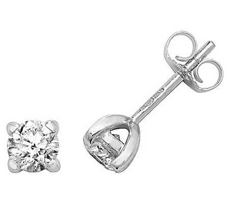 James Moore TH 18k White Gold Diamond Stud Earrings EDQ302W