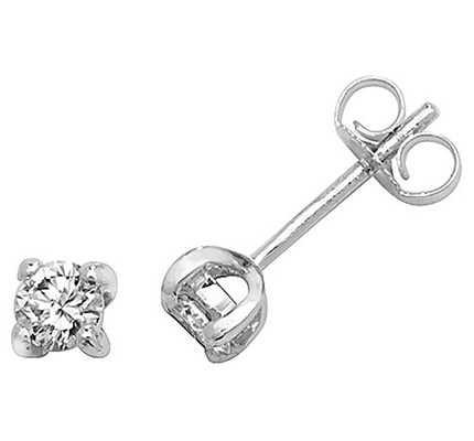 Treasure House 18k White Gold Diamond Stud Earrings EDQ300W