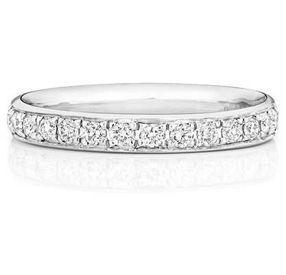Treasure House 9k White Gold 50% Diamond Grain Set Eternity Ring W226W