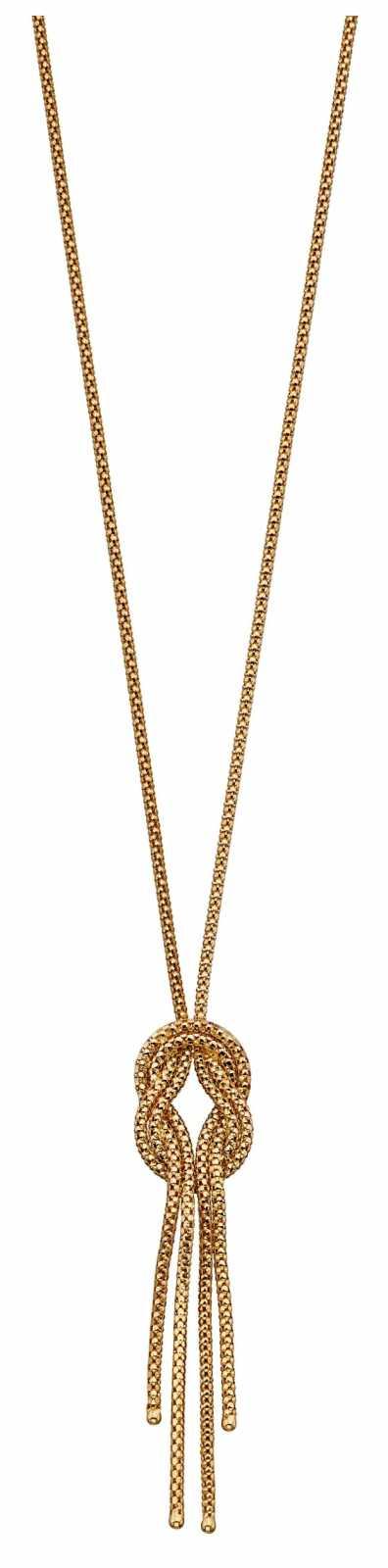 Elements Gold 9k Yellow Gold Twist Lairat Necklace 42cm GN341