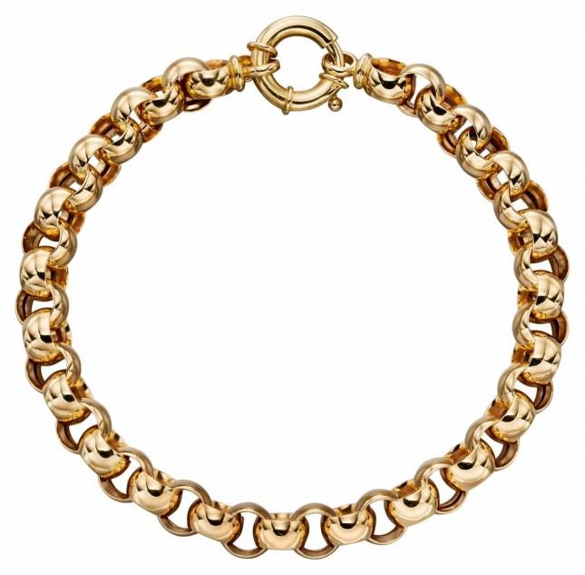 Elements Gold 9k Yellow Gold Link Bracelet 19cm GB466