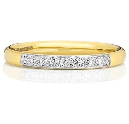 Treasure House 9k Yellow Gold Grain Set Diamond Eternity Ring W221