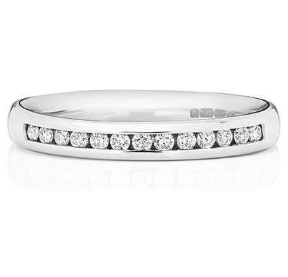 Treasure House Platinum 33% Diamond Channel Eternity Ring WP219