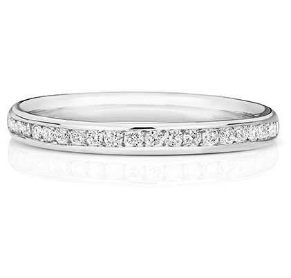 Treasure House 18k White Gold 50% Diamond Channel Eternity Ring WQ217W