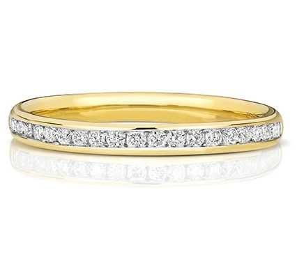 Treasure House 9k Yellow Gold 50% Channel Set Diamond Eternity Ring W217