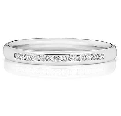 Treasure House 18k White Gold 33% Diamond Channel Eternity Ring WQ216W