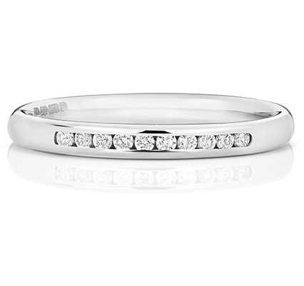 Treasure House Platinum 25% Diamond Channel Eternity Ring WP215