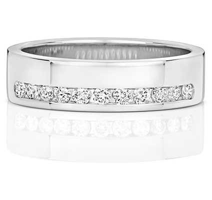 Treasure House 18k White Gold Diamond Set Half Eternity Ring RDQ552W