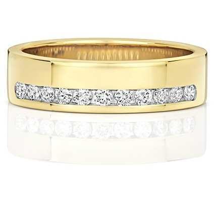Treasure House 18k Yellow Gold Diamond Half Eternity Ring RDQ552