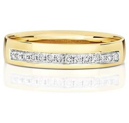 Treasure House 9k Yellow Gold Grain Set Diamond Ring RD725