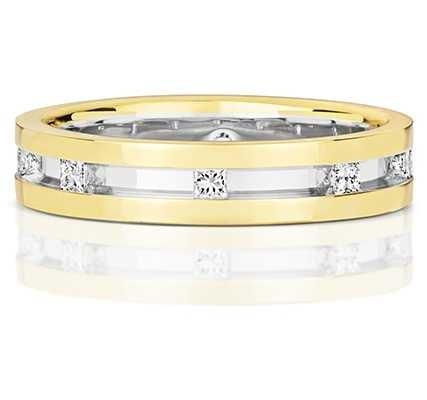 Treasure House 9k White And Yellow Gold Diamond Ring RD721
