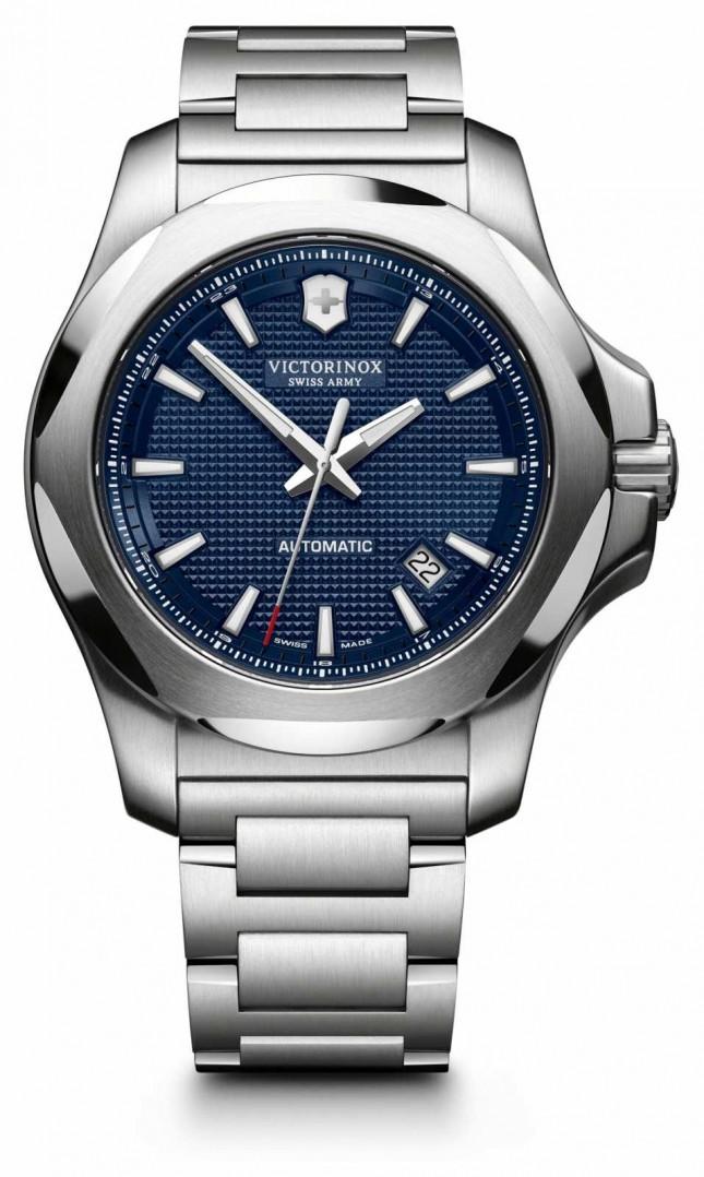 Victorinox Swiss Army I.N.O.X Mechanical Blue Dial Silver Bracelet 241835