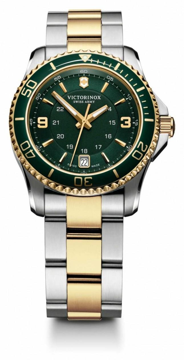 Victorinox Swiss Army Womens Maverick Green Dial Stainless Steel Bracelet 241612