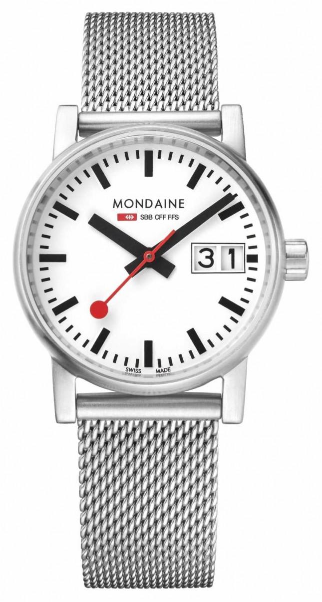 Mondaine Evo2 30mm Big Date Stainless Steel Watch MSE.30210.SM