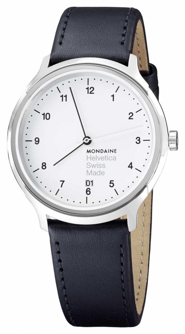 Mondaine Men's Mondaine Black Leather Strap Watch MH1.R2210.LB