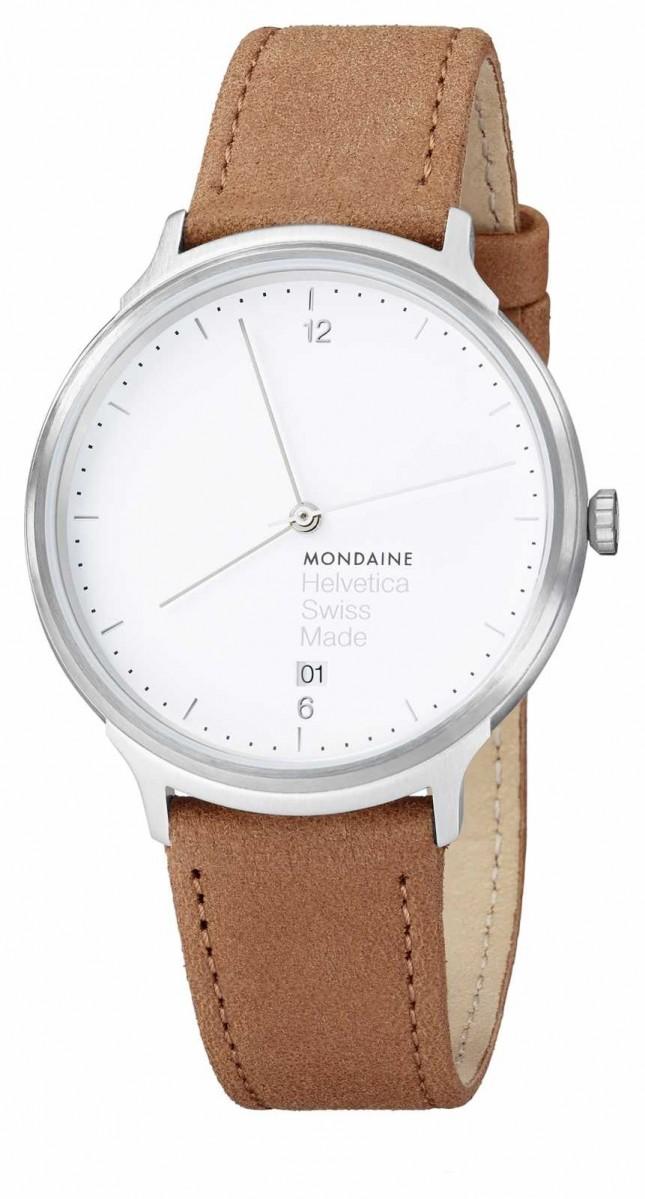 Mondaine Unisex Helvetica Leather Strap Watch MH1.L2210.LG