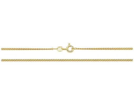 Treasure House 9k Yellow Gold Close Curb Chain 18″ Ch162/18